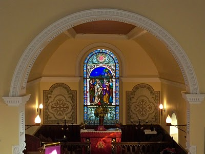 The sanctuary of Saint Patrick's Church in Donabate (Photograph: Patrick Comerford, 2010)
